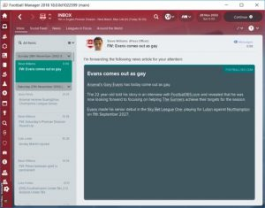 Gay Footballers Coming Out In Football Manager 2018